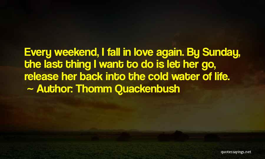 Falling In Love With Someone Again Quotes By Thomm Quackenbush