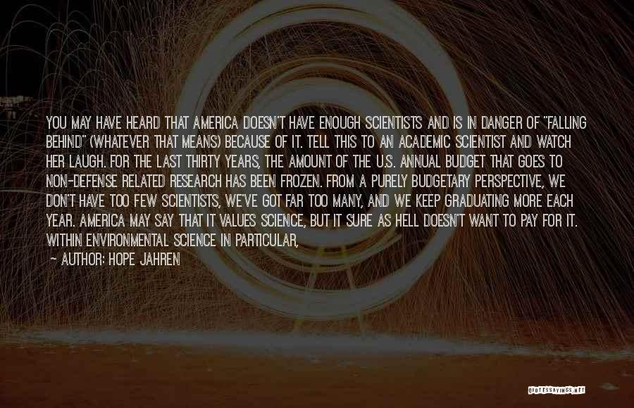 Falling Quotes By Hope Jahren