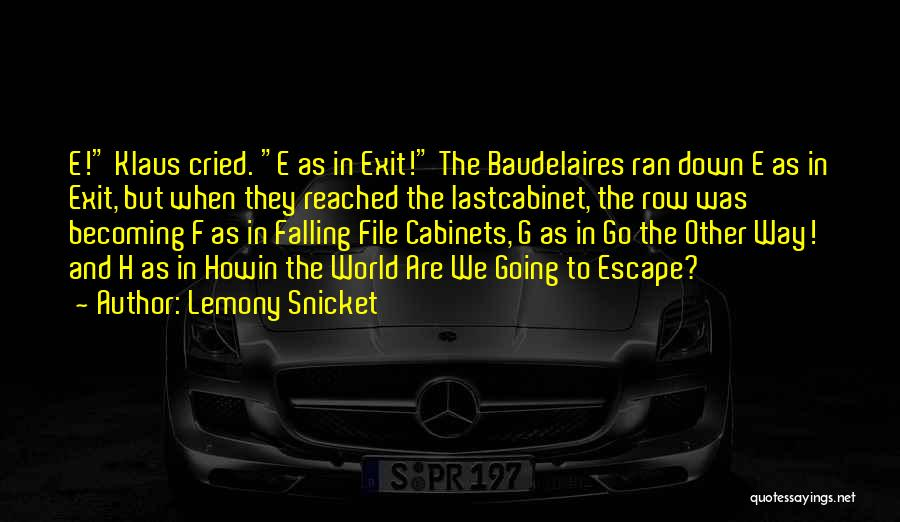 Falling Quotes By Lemony Snicket