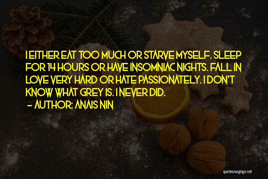 Falling Too Hard Quotes By Anais Nin