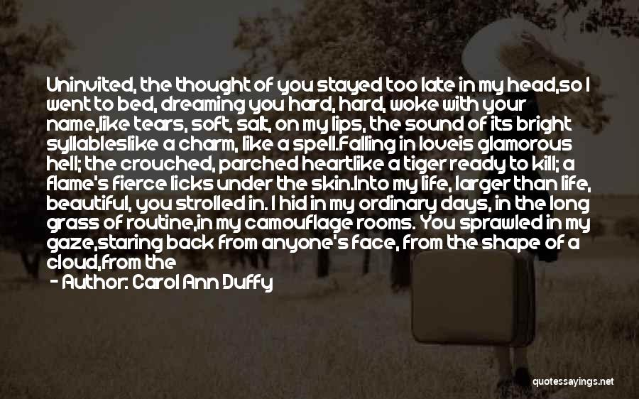Falling Too Hard Quotes By Carol Ann Duffy