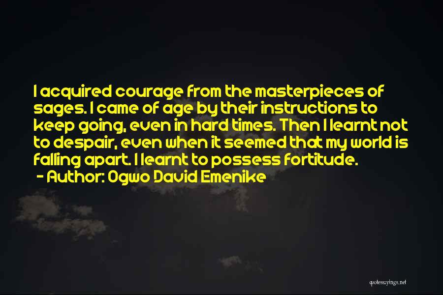 Falling Too Hard Quotes By Ogwo David Emenike