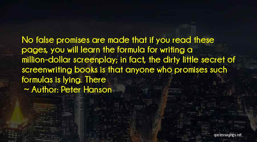 False Promises Quotes By Peter Hanson