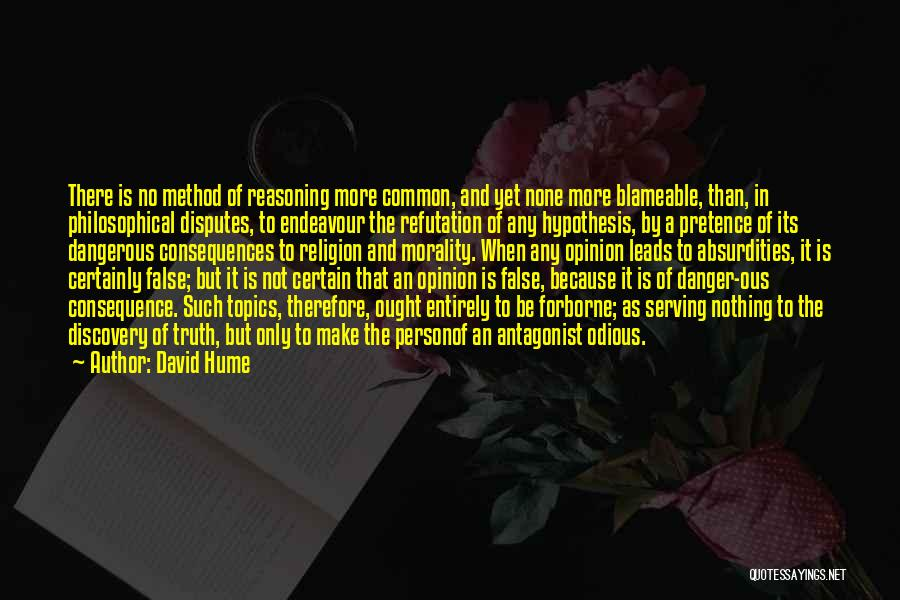 False Truth Quotes By David Hume