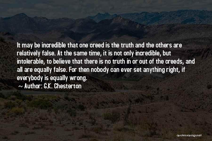 False Truth Quotes By G.K. Chesterton