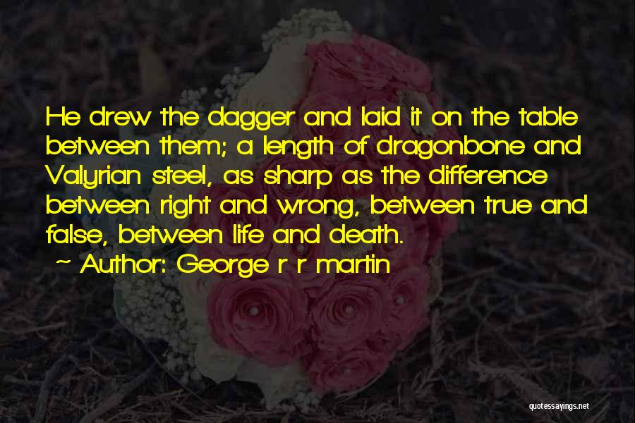 False Truth Quotes By George R R Martin