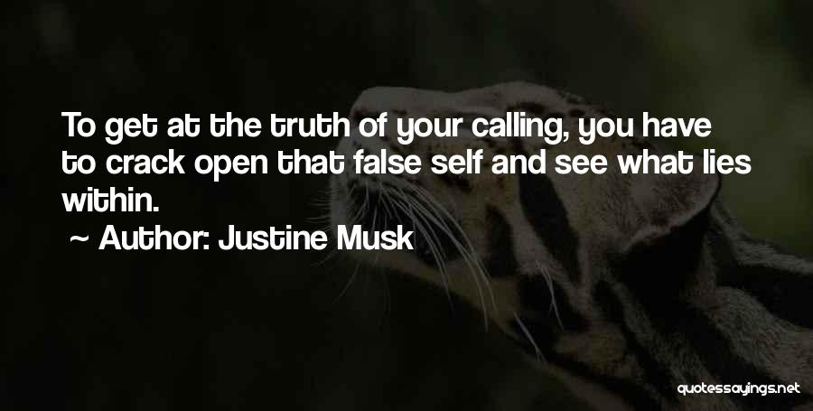 False Truth Quotes By Justine Musk