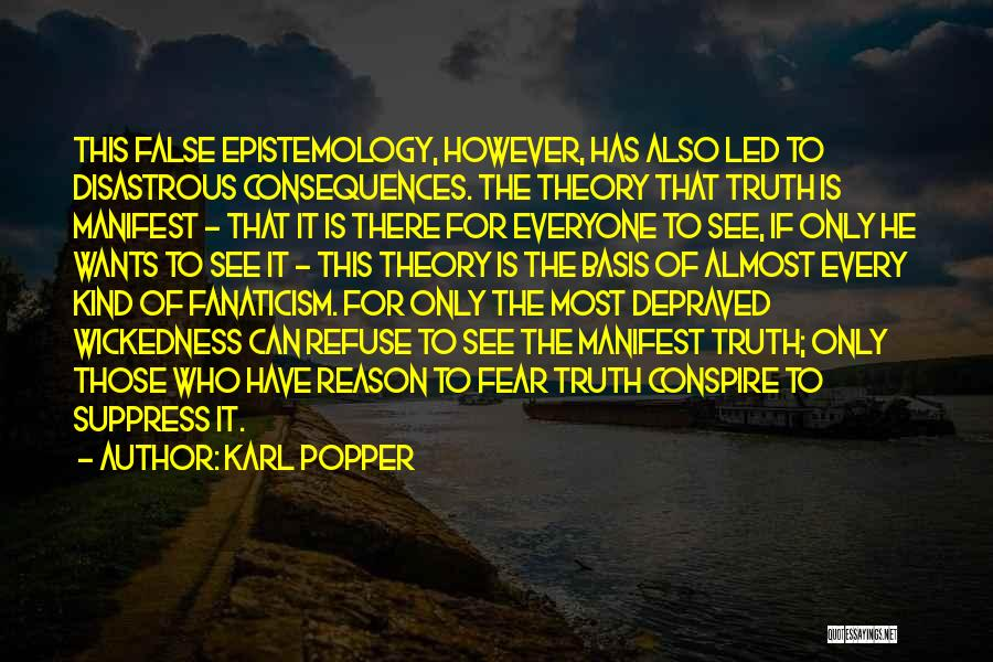 False Truth Quotes By Karl Popper