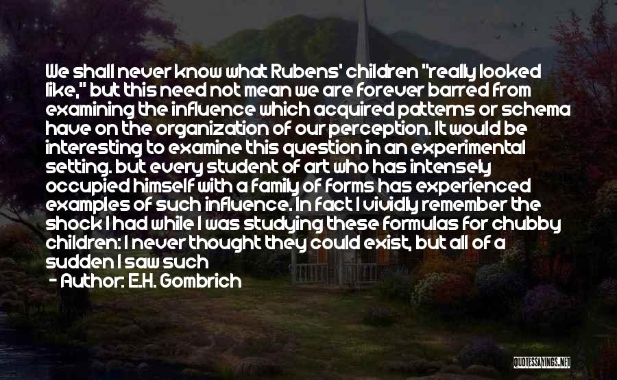 Family Forever Quotes By E.H. Gombrich