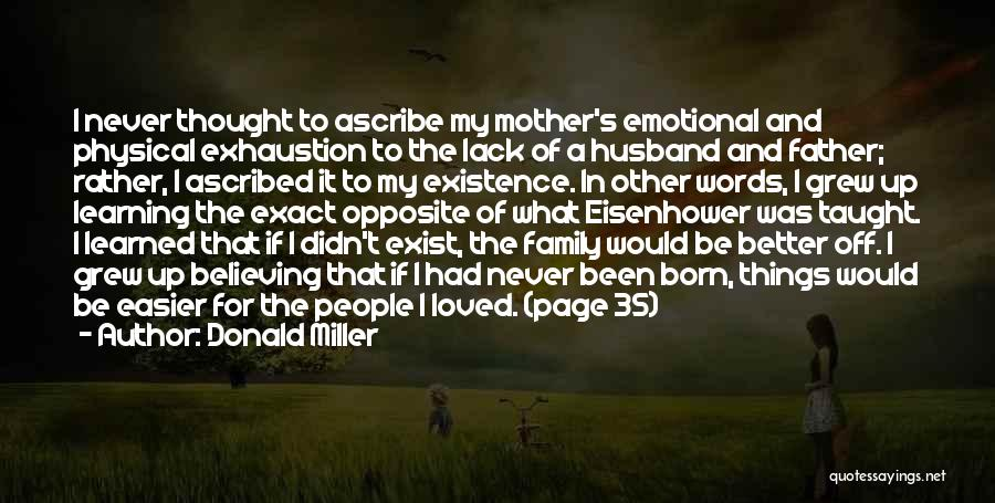Family Husband Quotes By Donald Miller