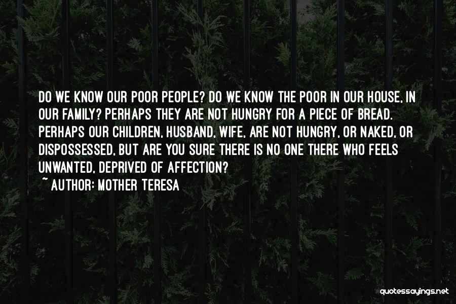Family Husband Quotes By Mother Teresa