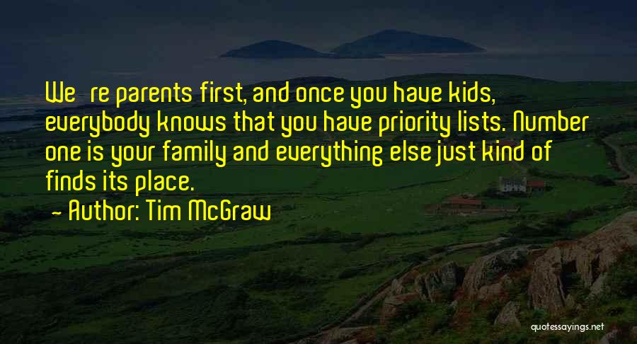 Family Is Everything Quotes By Tim McGraw