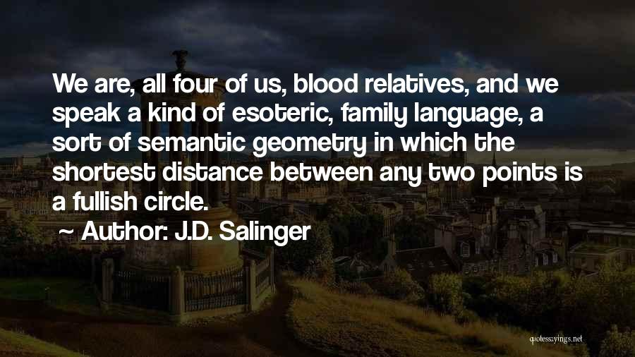Family Is Just Blood Quotes By J.D. Salinger