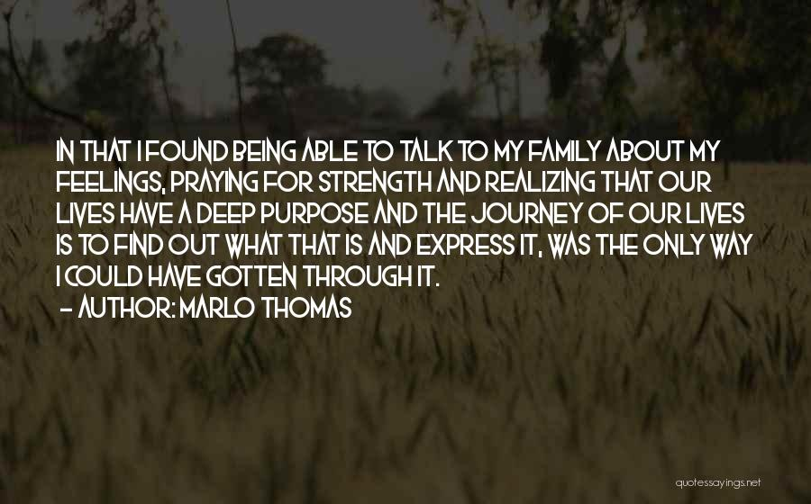 Family Is My Strength Quotes By Marlo Thomas