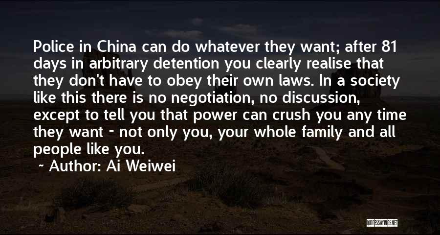 Family Not There Quotes By Ai Weiwei