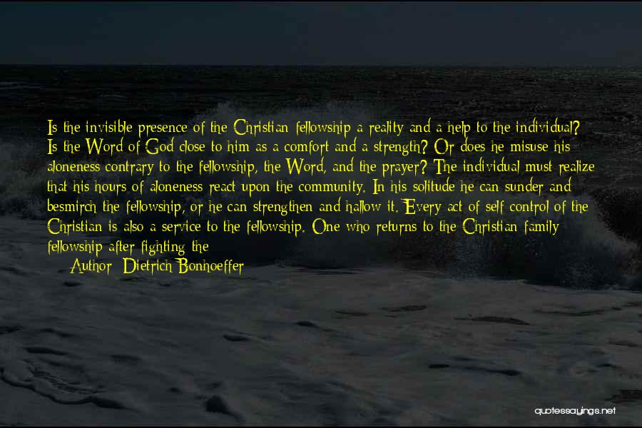 Family Of God Quotes By Dietrich Bonhoeffer