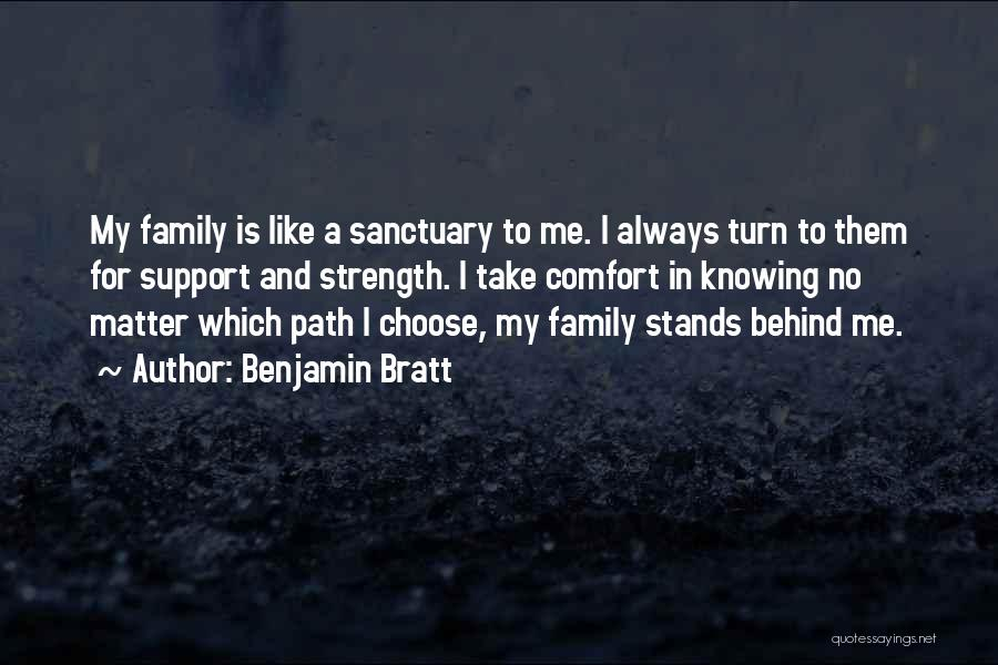 Family Stands For Quotes By Benjamin Bratt