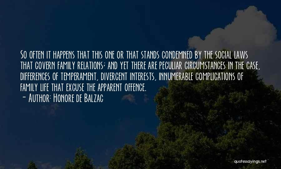 Family Stands For Quotes By Honore De Balzac