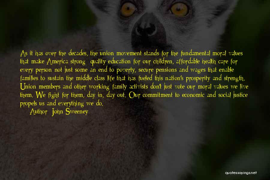 Family Stands For Quotes By John Sweeney