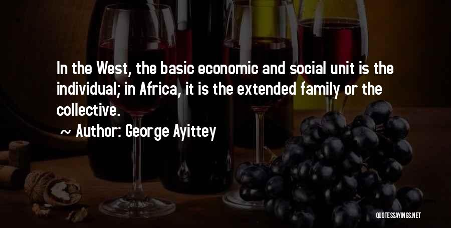 Family Unit Quotes By George Ayittey