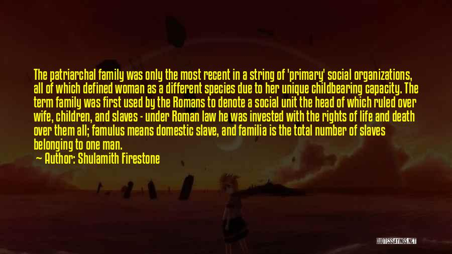 Family Unit Quotes By Shulamith Firestone