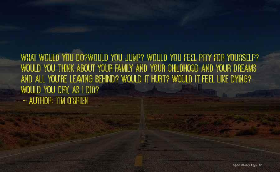Family Who Hurt You Quotes By Tim O'Brien