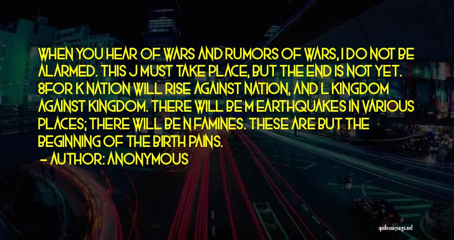 Famines Quotes By Anonymous