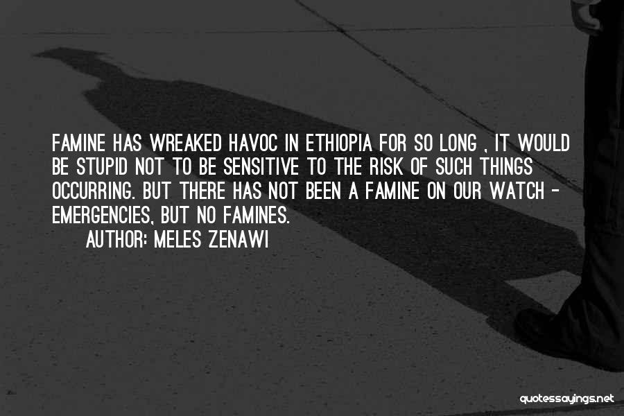 Famines Quotes By Meles Zenawi