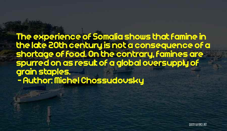 Famines Quotes By Michel Chossudovsky