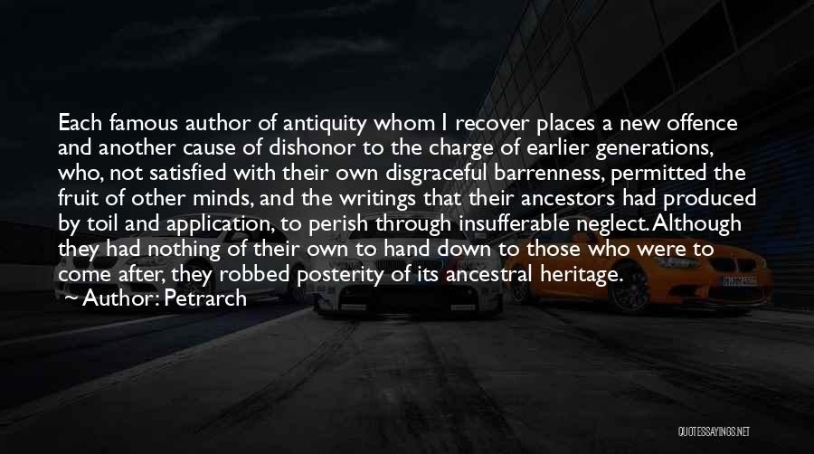 Famous Dishonor Quotes By Petrarch