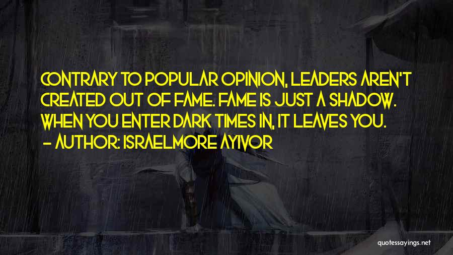 Famous Leaders And Quotes By Israelmore Ayivor
