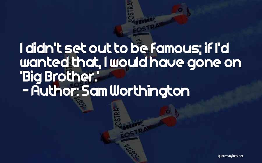 Famous Mr. Big Quotes By Sam Worthington