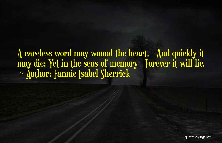 Fannie Isabel Sherrick Quotes 1026472