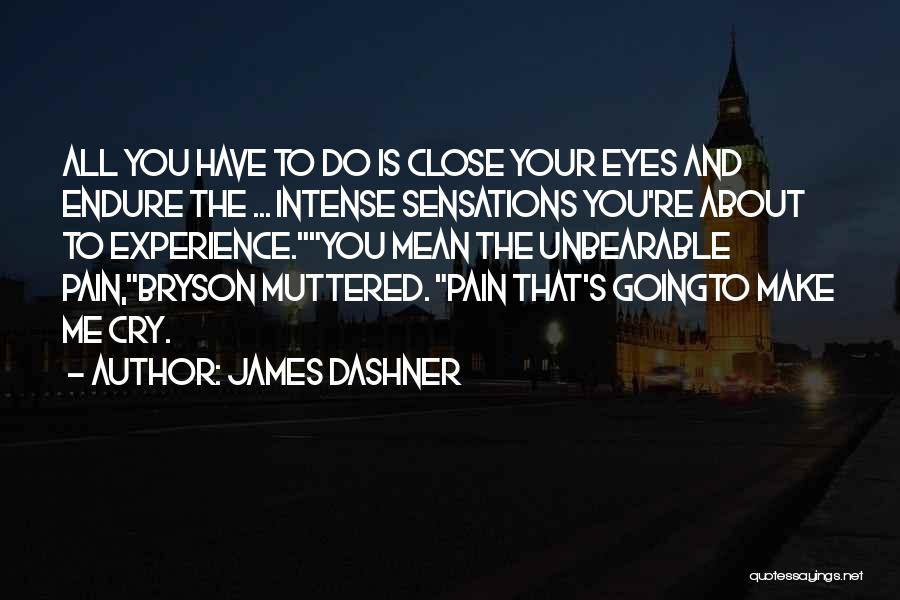 Far Cry Experience Quotes By James Dashner