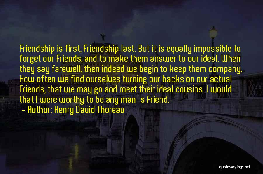 Farewell Friendship Quotes By Henry David Thoreau