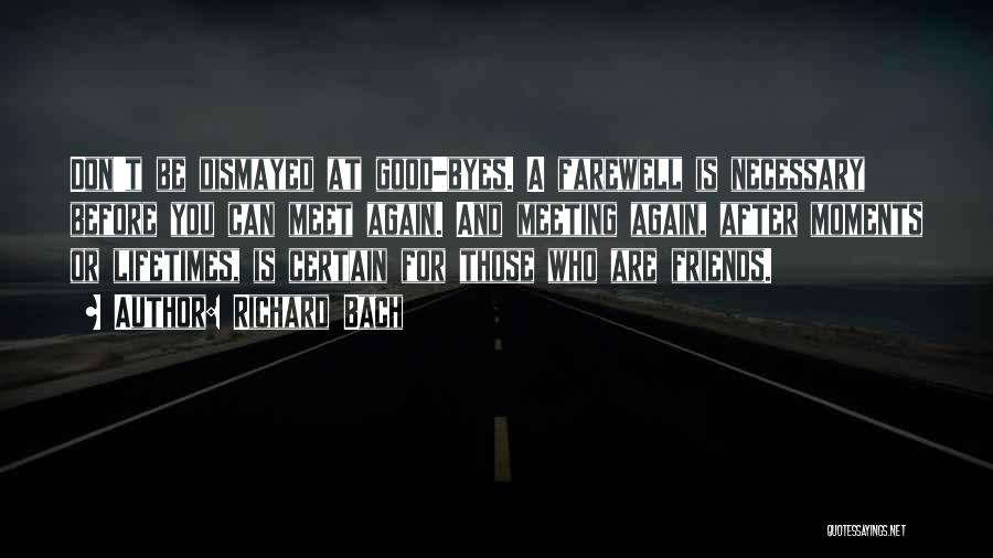 Farewell Friendship Quotes By Richard Bach