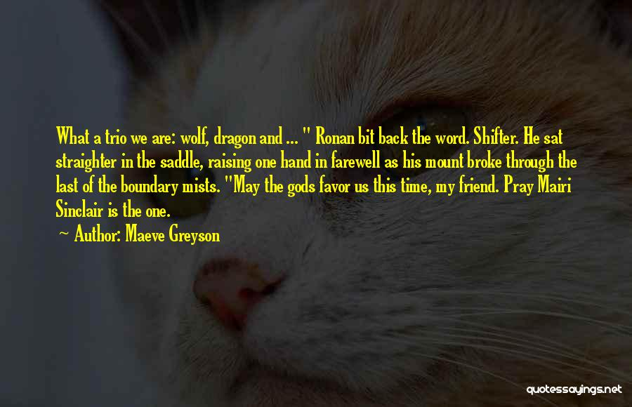 Farewell To A Friend Quotes By Maeve Greyson