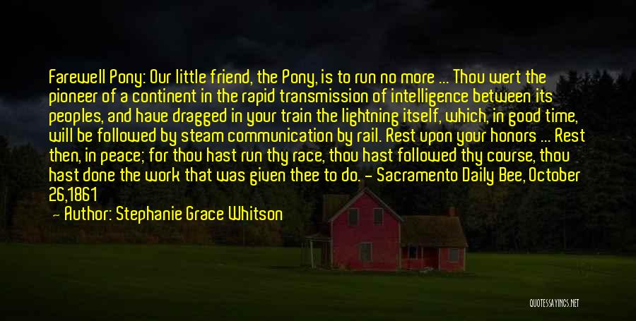 Farewell To A Friend Quotes By Stephanie Grace Whitson