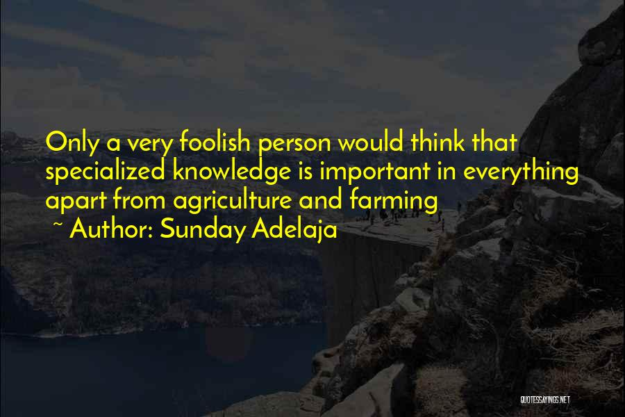 Farming And Agriculture Quotes By Sunday Adelaja