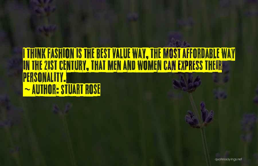 Fashion And Personality Quotes By Stuart Rose