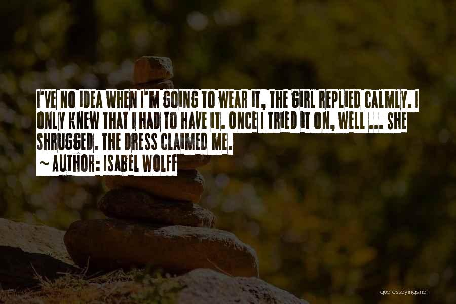Fashion Shopping Quotes By Isabel Wolff