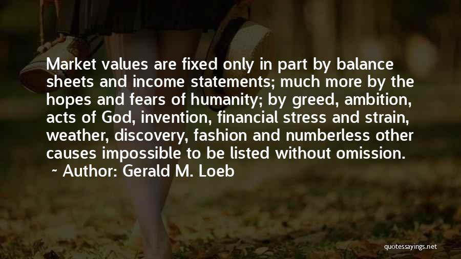 Fashion Statements And Quotes By Gerald M. Loeb