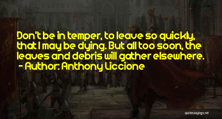 Fast Change Quotes By Anthony Liccione
