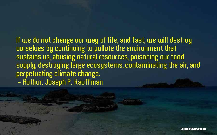 Fast Change Quotes By Joseph P. Kauffman