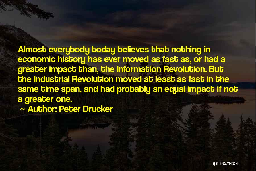 Fast Change Quotes By Peter Drucker