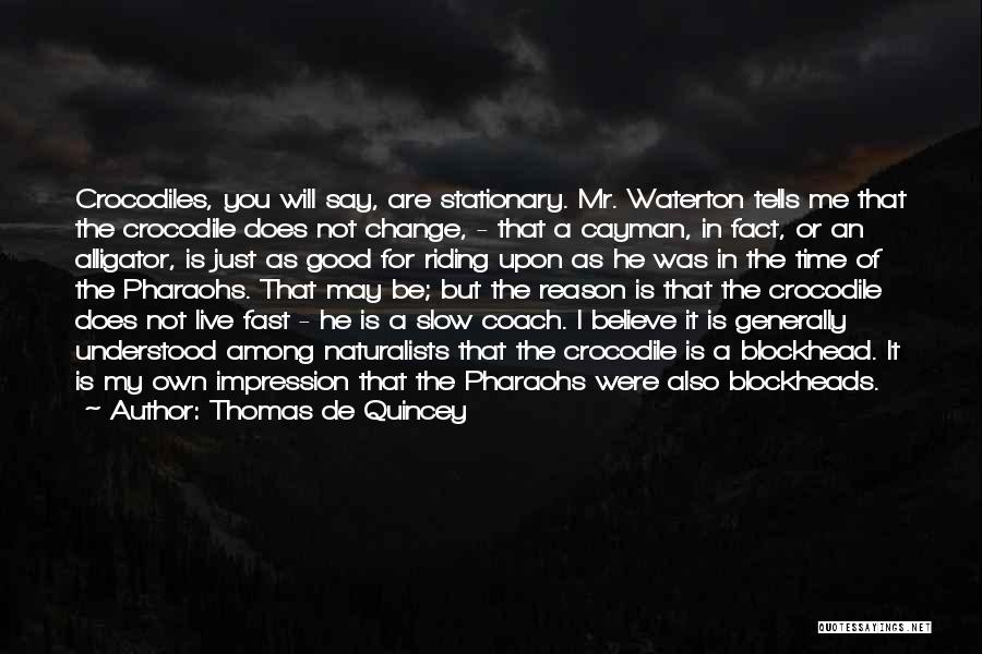Fast Change Quotes By Thomas De Quincey