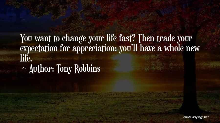 Fast Change Quotes By Tony Robbins