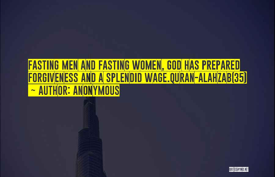 Fasting In Quran Quotes By Anonymous