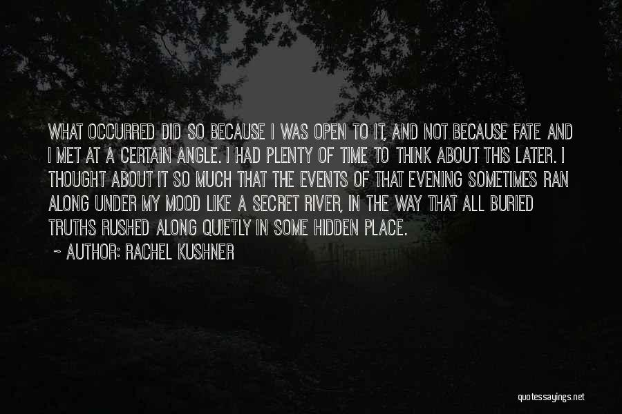 Fate We Met Quotes By Rachel Kushner
