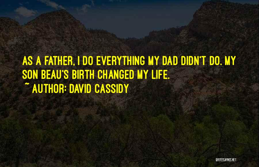 Father Son Life Quotes By David Cassidy